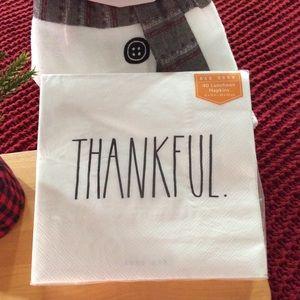 "Rae Dunn Napkins ""Thankful"""